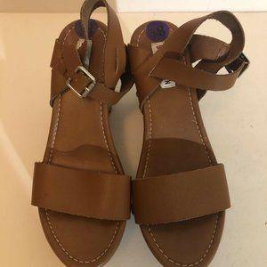 Steve Madden Womens Safyre Clog Sandals Brown 8.5M